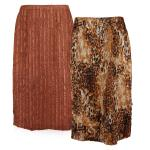Magic Crush Reversible Calf Length Skirt - Golden Leopard