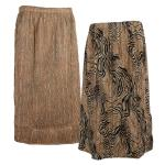 Magic Crush Reversible Calf Length Skirt - Swirl Animal