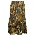 Satin Mini Pleat Tiered Skirt - Swirl Leopard