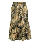 Satin Mini Pleat Tiered Skirt - Swirl Animal