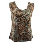 Magic Slinky Sleeveless - Animal Print with Brown and Gold Accent