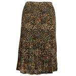 Georgette Mini Pleat Calf Length Skirt - Leopard (Three Quarter Lining)