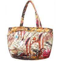 Quilted Bags - Small Tote - (Save for Fall)Abstract Paint Splatter - Gold