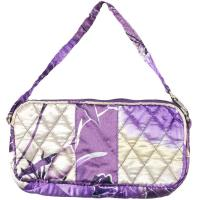 Quilted Bags - Wristlet - Rose Floral - Purple
