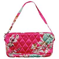 Quilted Bags - Wristlet - Mini Bouquet on Pink