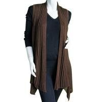 Magic Convertible Ribbed Sweater Vest - Brown