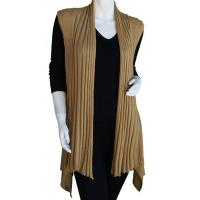 Magic Convertible Ribbed Sweater Vest - Gold