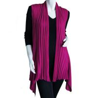 Magic Convertible Ribbed Sweater Vest - Magenta