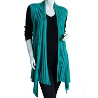 Magic Convertible Ribbed Sweater Vest - Jade