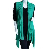 Magic Convertible Ribbed Sweater Vest - Kelly Green