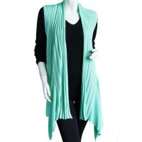 Magic Convertible Ribbed Sweater Vest - Mint