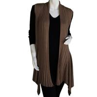 Magic Convertible Ribbed Sweater Vest - Mocha