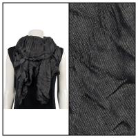 Scarves - Crinkle Gathered 1343 - Black