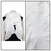 Scarves - Crinkle Gathered 1343 - Ivory