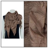 Scarves - Crinkle Gathered 1343 - Brown