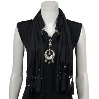 Scarves - Dreamcatcher Pendant - Polyester - Black