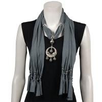 Scarves - Dreamcatcher Pendant - Polyester - Grey
