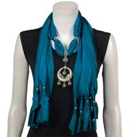 Scarves - Dreamcatcher Pendant - Polyester - Teal Blue