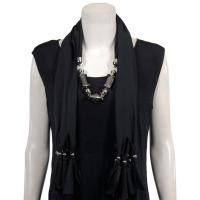 Scarves - Abstract Charms - Jersey Knit - Black