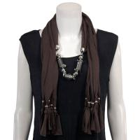 Scarves - Abstract Charms - Jersey Knit - Brown