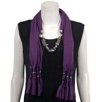 Scarves - Abstract Charms - Jersey Knit - Eggplant