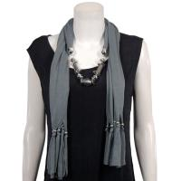 Scarves - Abstract Charms - Jersey Knit - Grey