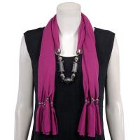 Scarves - Abstract Charms - Jersey Knit - Orchid