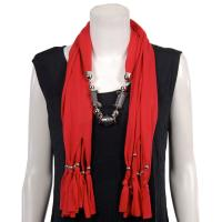 Scarves - Abstract Charms - Jersey Knit - Red