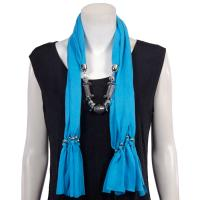 Scarves - Abstract Charms - Jersey Knit - Sky Blue