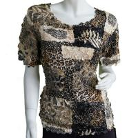 Satin Origami Petal Shirts - Cap Sleeve - Patchwork Jungle
