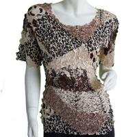 Satin Origami Petal Shirts - Cap Sleeve - Patchwork Paisley Jungle