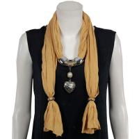 Scarves - Heart Pendant 2 - Jersey Knit - Maize