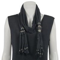 Scarves - Abstract Charms- Jersey Knit - Black