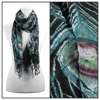 Scarves - Peacock 50851 - Black