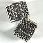Scarf Rings - 04 Silver Reversible (2 Pack)