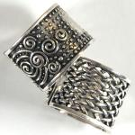 Scarf Rings - 05 Silver Reversible (2 Pack)