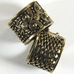 Scarf Rings - 08 Bronze Reversible (2 Pack)