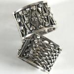 Scarf Rings - 09 Silver Reversible (2 Pack)