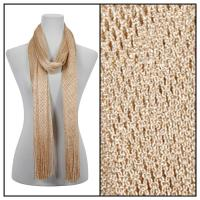 Scarves - Metallic Fishnet 3836 - Gold