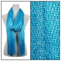 Scarves - Metallic Fishnet 3836 - Turquoise