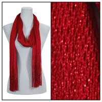 Scarves - Metallic Fishnet 3836 - Red