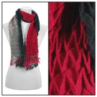 Scarves - Pleated Ombre 686 - Red-Black
