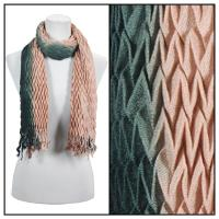 Scarves - Pleated Ombre 686 - Brown-Black
