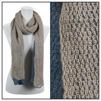 Scarves - Crochet Two-Ply 8086 - Denim-Beige