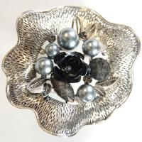 Scarf to Belt Accessory - 102 - Silver-Black
