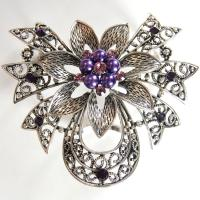 Scarf to Belt Accessory - 103 - Silver-Purple