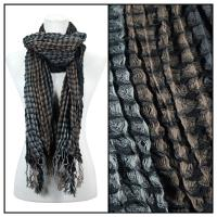 Scarves - Crinkle Checkered 648 - Black