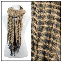 Scarves - Crinkle Checkered 648 - Camel