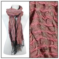 Scarves - Crinkle Checkered 648 - Raspberry