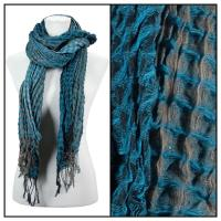 Scarves - Crinkle Checkered 648 - Teal